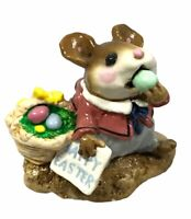 "Wee Forest Folk WFF M-160 ""Mousey's Easter Basket"" - Retired 1982 With Box"