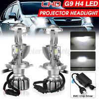 LHD H4 9003 Bi-LED Mini Projector Lens Headlight Hi-Low Beam Retrofit Kit IP65