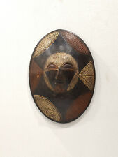 African Shield Mask Songye Tribe Congo Painted Shield Mask