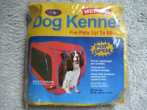 Dog Kennel for travel Sport Pet Medium for dogs up to 60 lbs. 20 x 20 x 32 New