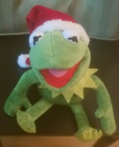 Disney DANDEE Christmas Animated Plush Kermit Frog Muppets Santa Jingle Bells