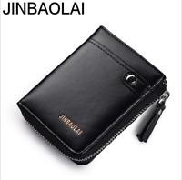 Men PU Leather Wallet Bifold ID Credit Card Holder Mini Purse Slim Money Clip