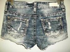 Jr's Girl's Women's Buckle Daytrip Lynx Bling Stretch Denim Jeans Shorts 26
