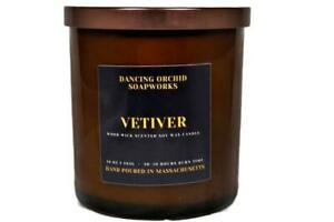 Vetiver Scented Wood Wick Soy Candle