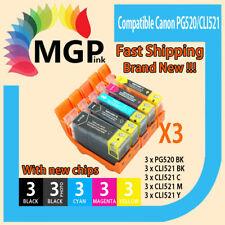30x Ink Cartridge PGI520 CLI521 for Canon MP620 MP630 MP640 MX870 MX860 Printer
