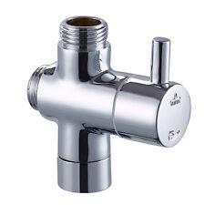 """Brass G1/2"""" T-adapter shut off valve Diverter for bath shower / TOILET Bidet"""