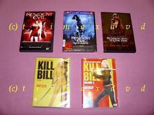 5 DVDs_Kill Bill 1 & Kill Bill 2 & Resident Evil & RE Apocalypse & RE Extinction