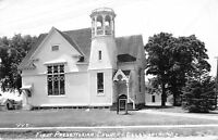 Ellsworth Wisconsin~First Presbyterian Church~1940s Real Photo Postcard~RPPC
