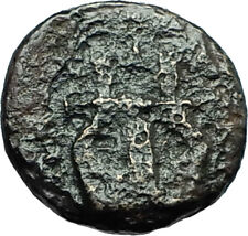 OLYNTHOS MACEDONIA 420BC Chalkidian League Ancient Greek Coin APOLLO LYRE i66600