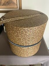 New listing Vintage Hat or Wig Carrying Case Floral Tapestry With Canvas Head Form Inside