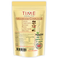 Mushroom Complex 6 Capsules Chaga Cordyceps Reishi 30% Polysaccharides