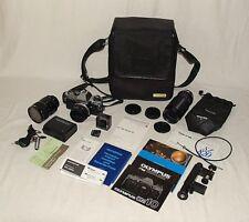 Olympus OM-10 + 3x Objektiv Zuiko Kiron Tokina + Mikrofon ME4 + Adapter + Tasche