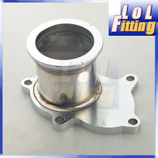 """T3/T4 Turbo 5 Bolt Exhaust Turbo Down Pipe Flange To 2.5"""" 63mm V band Adapter"""