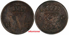 Netherlands William I Copper 1823 1 Cent SCARCE KM# 47