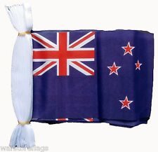Zealand Flag Bunting 9 Metres 30 Flags Oceania