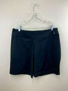 Lands End Sport Womens 1X Black Smooth Stretch Shorts Active Athletic