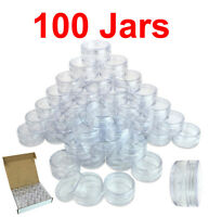 100 Packs 10 Gram/10ML High Quality Cream Cosmetic Sample Clear Jar Containers