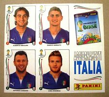 SET 4 FIGURINE EXTRA STICKERS UPDATES ITALIA ITALY PANINI BRASIL 2014