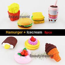 Lovely Cute Eraser Hamburger Icecream Cartoon Eraser Kid Children Fashion Eraser