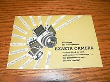 Vintage Ihagee Exakta Camera Brochure~Excellent Condition
