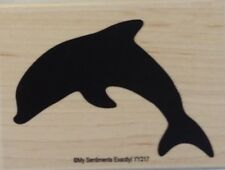 NEW MSE! My Sentiments Exactly! Mounted Wood Rubber Stamp YY217 Dolphin
