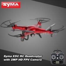 Syma X5C 2.4GHz 4CH 6 assi RC Quadcopter Drone 2.0 MP fotocamera Rosso DE Q9T1