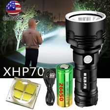 990000LM P70 LED Flashlight Tactical 3 Modes Rechargeable Torch + 26650 Battery