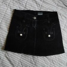 Calvin Klein Jeans Vintage Black Corduroy Mini Skirt Size 29