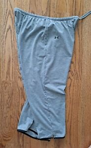 Under Armour Athletic Running Active Cropped Pants Women's Size L Gray