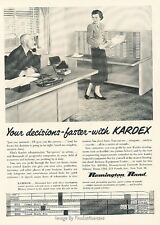 1952 Remington Rand Kardex Records Office Vintage Advertisement Print Ad J619