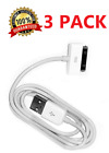 3x 30 pin USB Charging Data/Sync Cable Cord for Apple iphone 3G 4S 4G 3GS iPad2