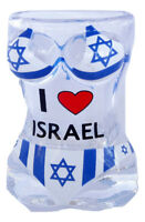 New Shot Glass Tequila glass i love israel holy land Swimsuit Design Israel flag