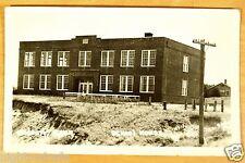 School House Bassett Nebraska NE Vintage Photo Postcard c.1940