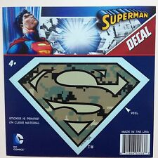 "DC Superman Digital Camo ""S"" Shield Logo Emblem Car Window Sticker Decal"