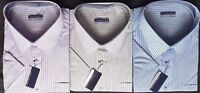 New Mens Men's Big & Tall Striped Short Sleeve Casual Shirt Shirts Tom Hagen