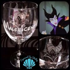 Personalised Disney Villain Maleficent Wine Glass Handmade & Free Name Engraved!