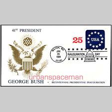 1989 Inauguration of George H W Bush Great Seal of the US Milton MA U611