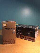 Nikon D3100 AF-S DX 18-55mm kit PLUS DX 55-200mm lens
