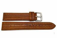 20MM XL BROWN DISTRESSED TUNNELED LEATHER WATCH BAND MK5629