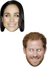 Prince Harry and Meghan Markle Royal Wedding Card Masks V2 - Masks Are Pre-Cut!