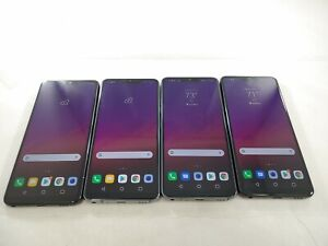 LOT of 4 LG G7 G710 Verizon GSM Unlocked Smartphones Assorted Carriers  A293L