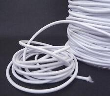 3mm width  - 5 yds - 10 yds White Drawstring Round Elastic Cord ET5