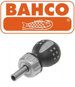 "BAHCO STUBBY Short 90mm Ratchet/Ratcheting Screwdriver 1/4"" Bit Holder 808050S"