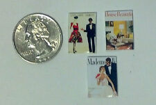 Dollhouse Miniature Vintage Magazines Books hbm 1:12 inch scale Dollys Gallery