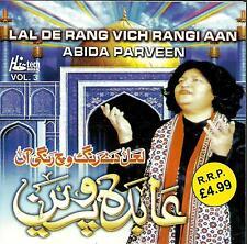 ABIDA PARVEEN - LAL DE RANG VICH RANGI AAN - VOL 3 CD