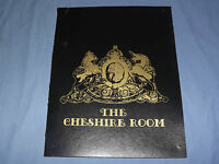 VINTAGE THE CHESHIRE ROOM MASSACHUSETTS    MENU