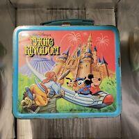 VTG Metal Lunch Box Walt Disney Magic Kingdom 1979 No Thermos Disneyworld 1979