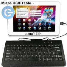 """Micro USB Leather Wired Keyboard Plug and play For 9"""" 10"""" My Go GoTab Tablet"""