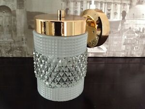 VINTAGE GLASS & COPPER DANISH STYLE  WALL LIGHT FITTING RETRO MID CENTURY WOW