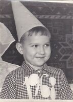 1968 Cute Little boy New Year Costume in Hubcap fashion Soviet Russian photo